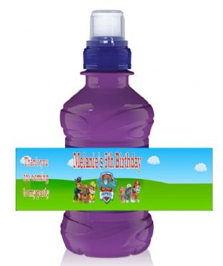 Paw Patrol Bottle Label Wrapper.